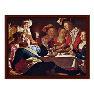The Prodigal Son,  By Honthorst Gerard Van Postcard