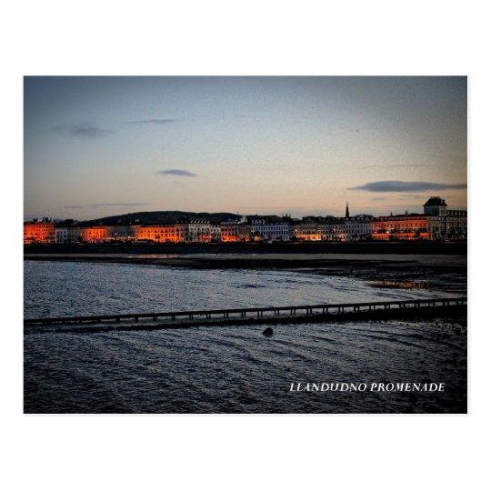 The promenade at Llandudno Postcard