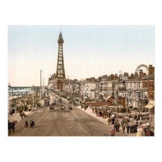 The Promenade, Blackpool, England Postcard