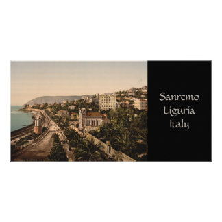 The Promenade, Sanremo, Liguria, Italy Customized Photo Card