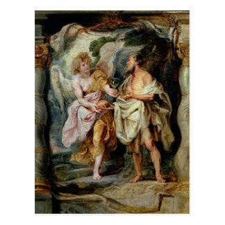 The Prophet Elijah and the Angel Postcard