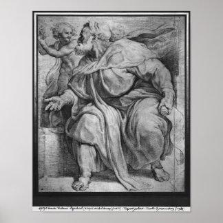 The Prophet Ezekiel, after Michangelo Buonarroti Poster