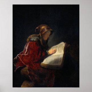 The Prophetess Anna Poster