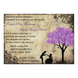 The Proposal Vintage Wedding Invitation. Card