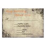 The Proposal Vintage Wedding RSVP in Orange 9 Cm X 13 Cm Invitation Card