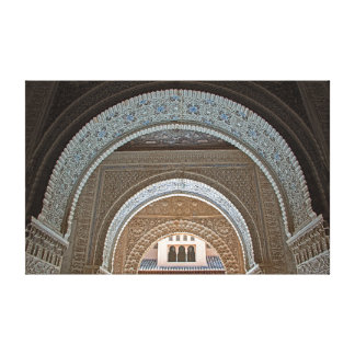 The prospect of graceful arches. canvas print
