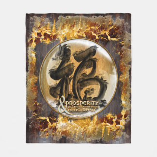 THE PROSPERITY CONNEXION : Art of Chinese Fengshui Fleece Blanket