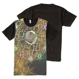 THE PROSPERITY CONNEXION : Gems of Fortune All-Over Print T-Shirt