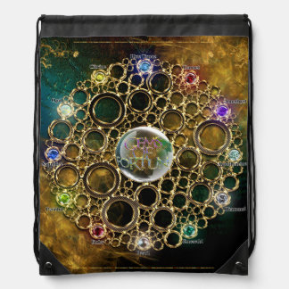 THE PROSPERITY CONNEXION : Gems of Fortune Drawstring Bag