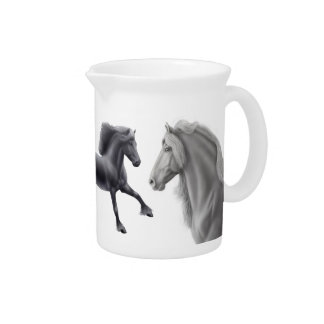 The Proud Friesian Horse Pitcher