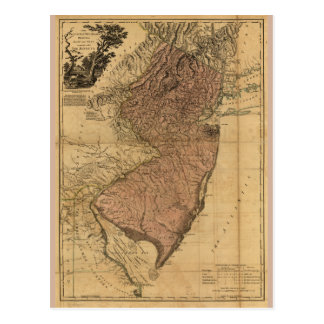 The Province of New Jersey Map (1777) Postcard