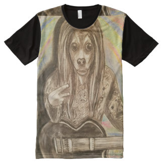 The Psychedelic Stray All-Over Print T-Shirt