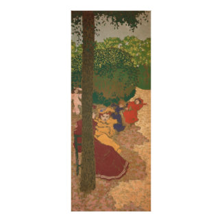 The Public Gardens: Young Girls Playing Poster