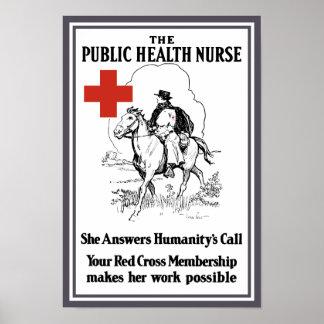 The Public Health Nurse -- Red Cross Poster
