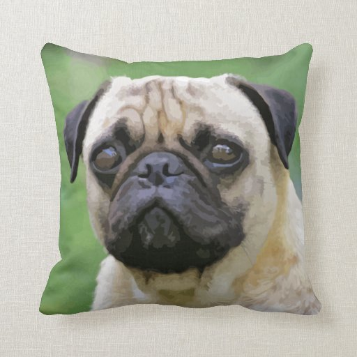 The Pug Dog Pillow