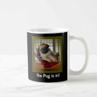 The Pug is in! Basic White Mug