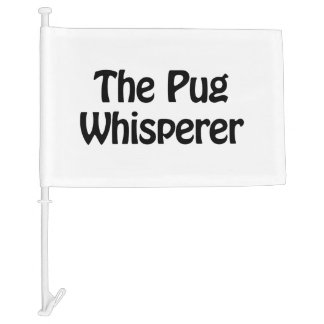 the pug whisperer car flag