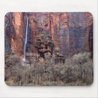 The Pulpit and ephemeral waterfall Mouse Pad