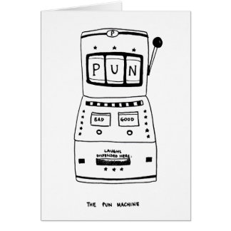 The Pun Machine Card