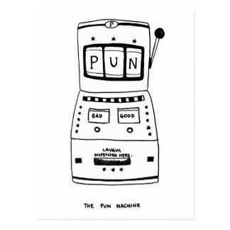 The Pun Machine Postcard