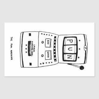 The Pun Machine Rectangular Sticker