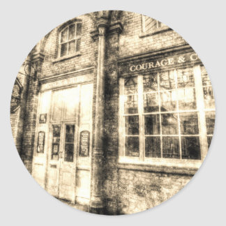 The Punch And Judy Pub Covent Garden Vintage Classic Round Sticker