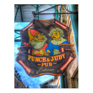 The Punch And Judy Pub Sign Postcard