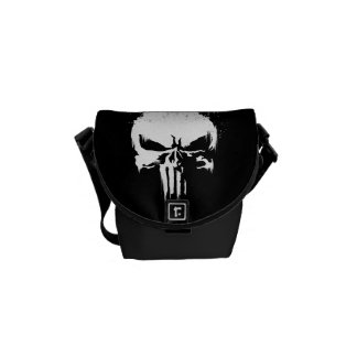 The Punisher | Painted Skull Logo Courier Bag