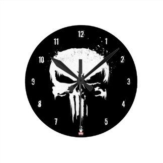 The Punisher | Painted Skull Logo Round Clock