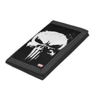 The Punisher   Painted Skull Logo Trifold Wallets