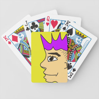The punk guy cartoon bicycle playing cards