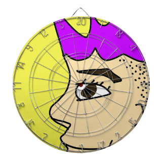 The punk guy cartoon dartboard