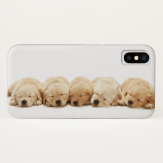 The puppies of the golden retriever iPhone x case