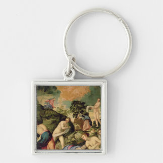 The Purification of the Midianite Virgins Keychain