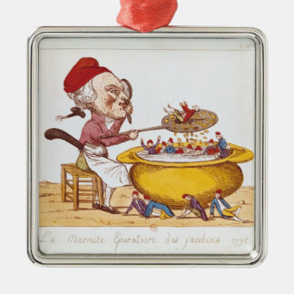 The Purifying Pot of the Jacobins, 1793 Metal Ornament
