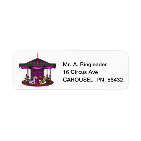 The Purple Carousel Return Address Labels