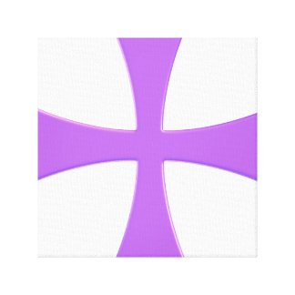 The Purple Cross Gallery Wrapped Canvas