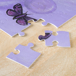 """""""The Purple Fairy"""" art PUZZLE by ronne barton"""