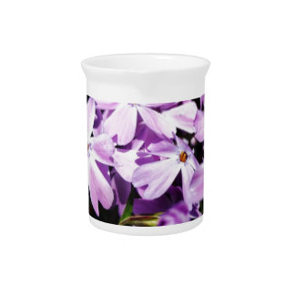 The Purple Flower Patch Drink Pitchers