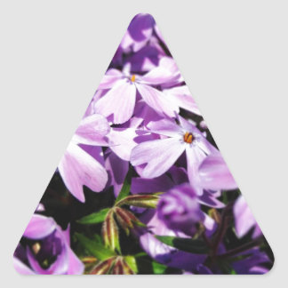 The Purple Flower Patch Triangle Sticker