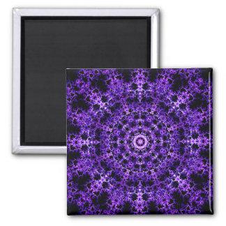 The Purple Illusion Mandala Square Magnet