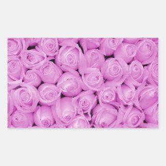 The purple rose experience rectangular sticker