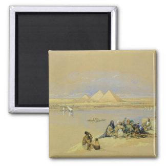 The Pyramids at Giza, near Cairo (w/c) Magnet