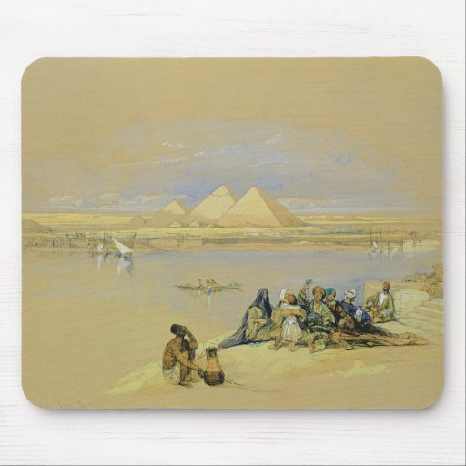 The Pyramids at Giza, near Cairo (w/c) Mouse Pads