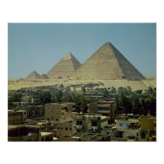 The Pyramids of Giza, c.2589-30 BC, Old Kingdom Poster