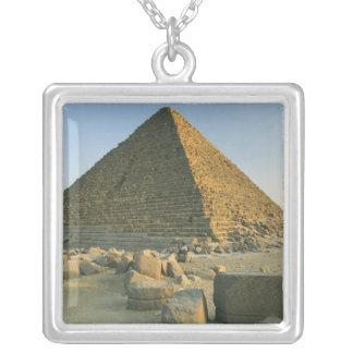 The Pyramids of Giza, which are alomost 5000 2 Square Pendant Necklace