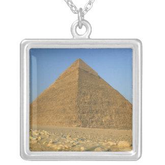 The Pyramids of Giza, which are alomost 5000 Square Pendant Necklace