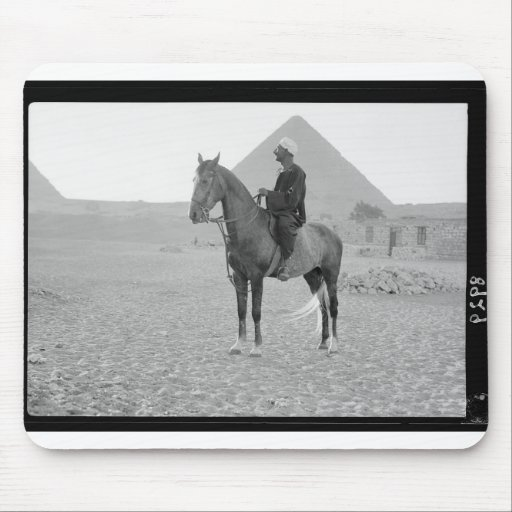 The Pyramids of Giza with Horseman circa 1934 Mouse Pad