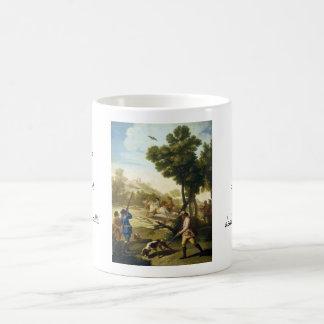 The Quail Hunting Francisco José Goya masterpiece Basic White Mug
