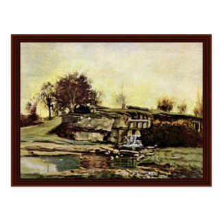 The Quarry Of Optevoz By Courbet Gustave Postcard